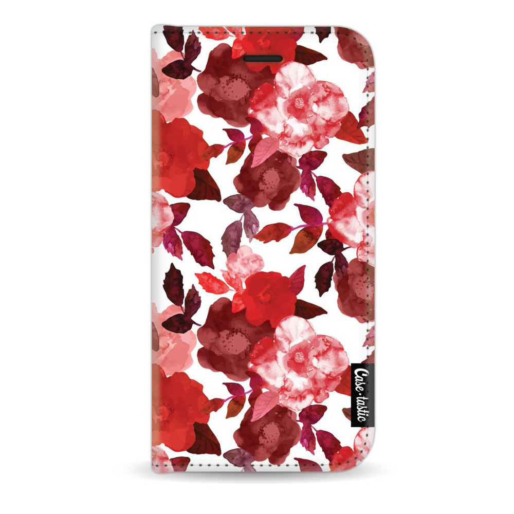 Casetastic Wallet Case White Apple iPhone 7/8 - Royal Flowers Red